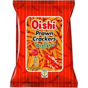Azijietiški traškučiai OISHI PRAWN CRACKERS SPICY 60g