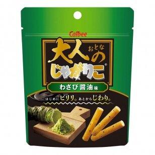 Bulvių lazdelės Jagariko Wasabi & Shoyu 38g