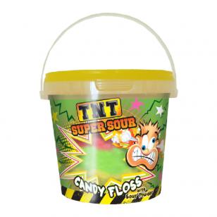 Cukraus vata TNT Super Sour Candy Floss with sour powder 50g