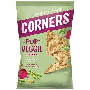 Daržovių traškučiai CORNERS - Pop Veggie Crisps (avinžirnių, burokėlių ir pupelių) su druska 85g