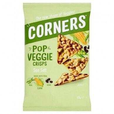 Daržovių traškučiai CORNERS Pop Veggie Crisps (Corn, Peas & Beans) su jūros druska 85g