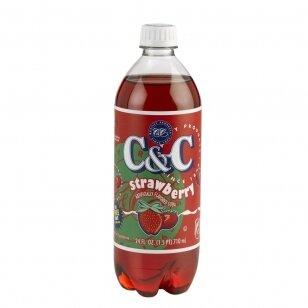 Gaivusis gėrimas C&C SODA (STRAWBERRY)