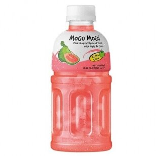 Gaivusis gėrimas MOGU MOGU PINK GUAVA su kokoso minkštimu 320ml