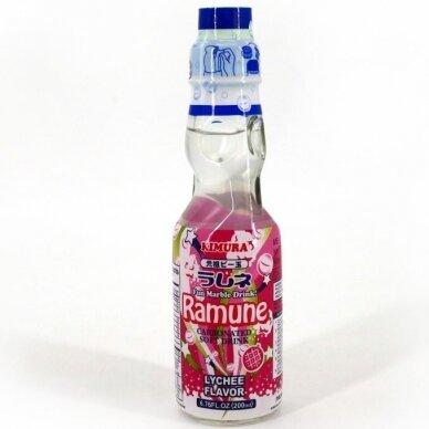 Gaivusis gėrimas KIMURA RAMUNE LYCHEE 200ml