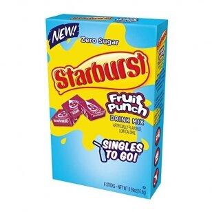 Gėrimas STARBURST Zero Sugar Fruit Punch Singles to Go