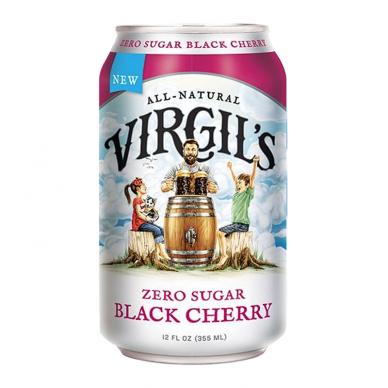 Gaivusis gėrimas VIRGIL'S Zero Sugar Black Cherry 355ml
