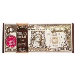 Juodasis šokoladas BARTON'S Million Dollar 56g