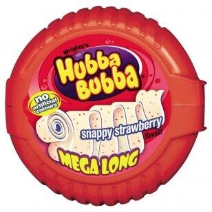 Kramtomoji guma Hubba Bubba Mega Long Strawberry 56g