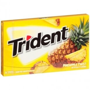 Kramtomoji guma TRIDENT Pineapple