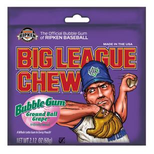 Kramtomoji guma BIG LEAGUE CHEW (vynuogių sk.)