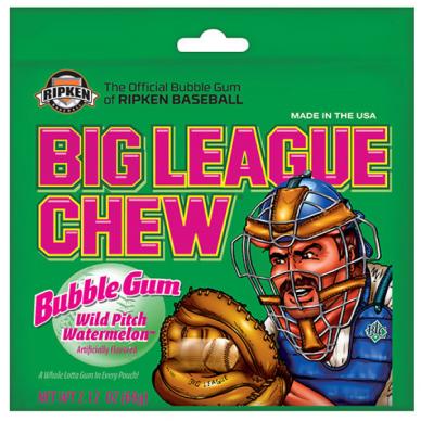 Kramtomoji guma BIG LEAGUE CHEW ( arbūzų skonio)