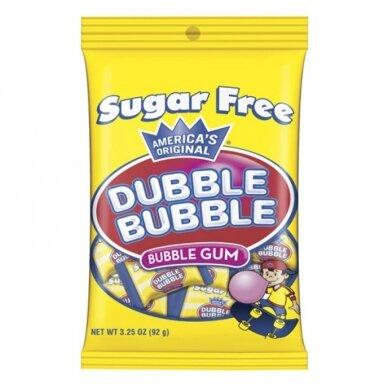 Kramtomoji guma DUBBLE BUBBLE Original  ( be cukraus) 92g