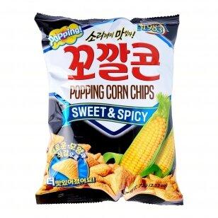 Kukurūzų traškučiai POPPING Corn Sweet&Spicy 144g