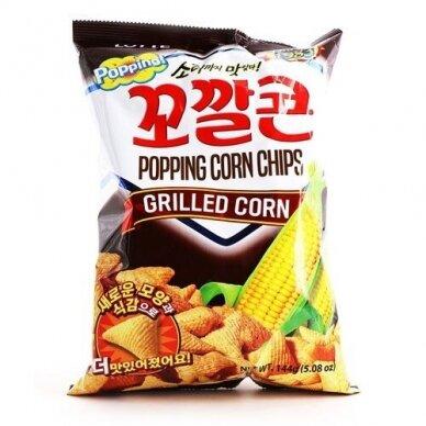 Kukurūzų traškučiai POPPING Corn Grilled 141g