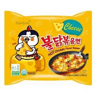 Makaronai SAMYANG BULDAK Hot chicken vištienos skonio aštrūs makaronai (Sūrio skonio) 140g