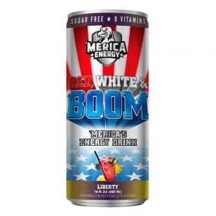Energetinis gėrimas Merica RED WHITE & BOOM Liberty ( Blackberry Lemon)