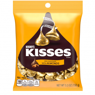 Saldainiai HERSHEY'S Kisses Almonds 150g