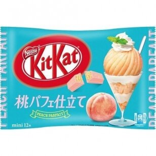 Saldainiai KIT KAT Mini Peach Parfait (12 mini vnt.)