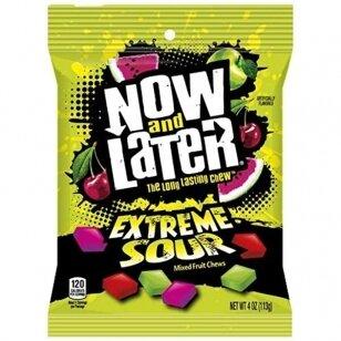 Saldainiai NOW & LATER extreme sour 113g