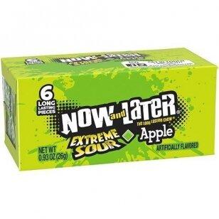 Saldainiai NOW&LATER Extreme Sour Apple  26g