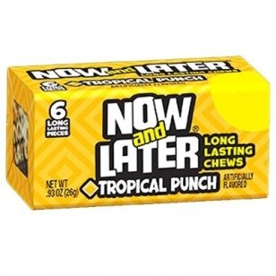 Saldainiai NOW&LATER (tropical punch) 26g