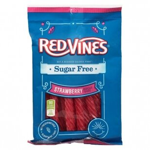 Saldainiai REDVINES Sugar FREE Strawberry 170g