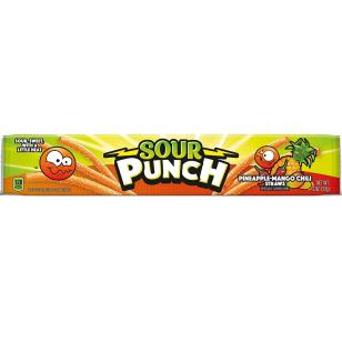 Saldainiai SOUR PUNCH Pineapple Mango Chilli 57g