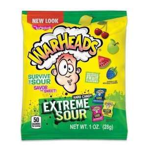 Saldainiai Warheads Extreme Sour Candy 28g