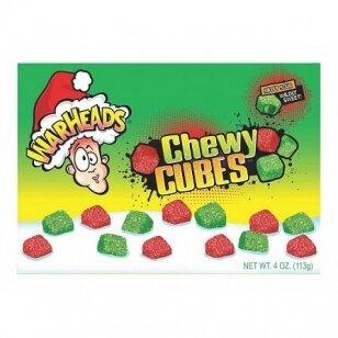 Saldainiai Warheads Christmas Chewy Cubes 99g