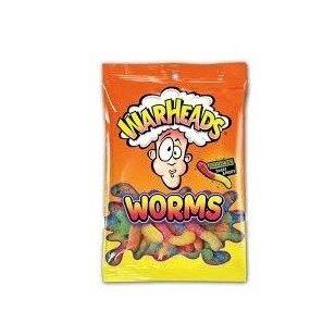 Saldainiai WARHEADS WORMS 141g