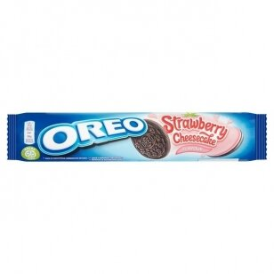 Sausainiai OREO STRAWBERRY CHEESCAKE 154g