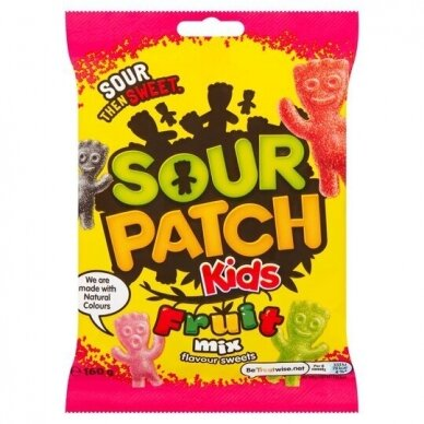 Saldainiai Sour Patch Kids Fruit Mix 160g