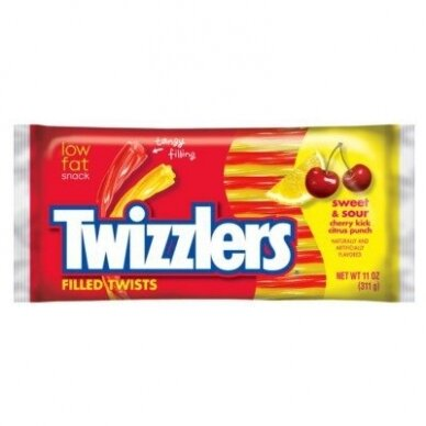 Saldainiai TWIZZLERS Sweet and Sour Candy twist 311g