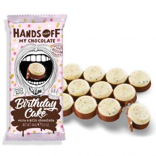 Pieniškas šokoladas HANDS OFF Birthday Cake 100g