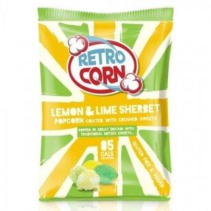 Kukurūzų spragėsiai RETROCORN Lemon lime Sherbet 35g
