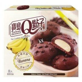 Taivanietiškas desertas Mochi sausainiai su bananais 160g