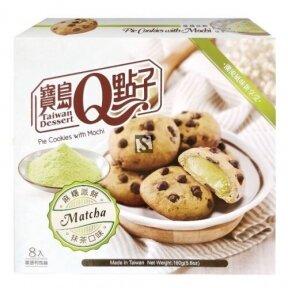 Taivanietiškas desertas sausainiai Mochi su Matcha 160g