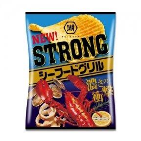 Bulvių traškučiai KOIKEYA STRONG POTATO CHIPS SEAFOOD GRILL ( jūrų gėrybių sk.) 56g