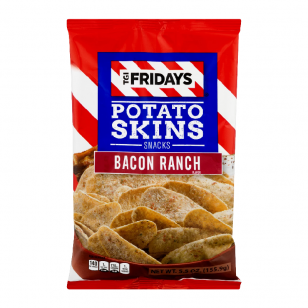 Traškučiai TGI Fridays Skins Bacon RANCH 113g