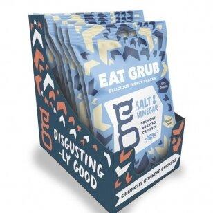 Traškūs skrudinti svirpliai EAT GRUB (CRUNCHY ROASTED CRICKETS) SALT&VINEGAR 12g