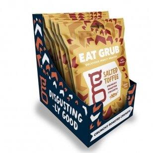 Traškūs skrudinti svirpliai EAT GRUB (CRUNCHY ROASTED CRICKETS) SALTED TOFFEE 12g