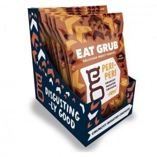 Traškūs skrudinti svirpliai EAT GRUB (ROASTED CRUNCHED CRICKETS) PERI PERI 12g