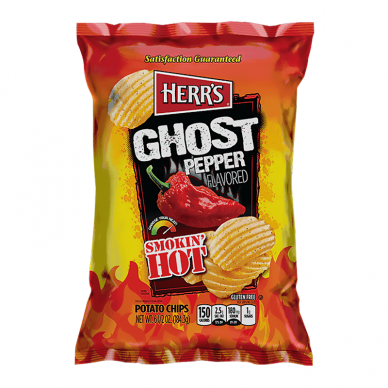 Traškučiai HERR'S Smokin' hot Ghost Pepper 184g