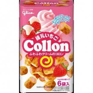 Vafliukai GLICO Ceam Collon Strawberry 81g
